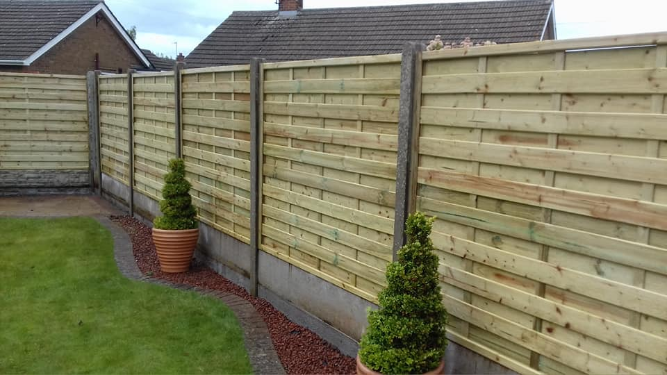 Nottingham Fencing new wooden lap fence in Beeston